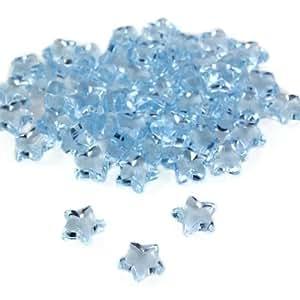 SANTEX 70107-8, Sachet de 50 petites étoiles imitation diamant, turquoise