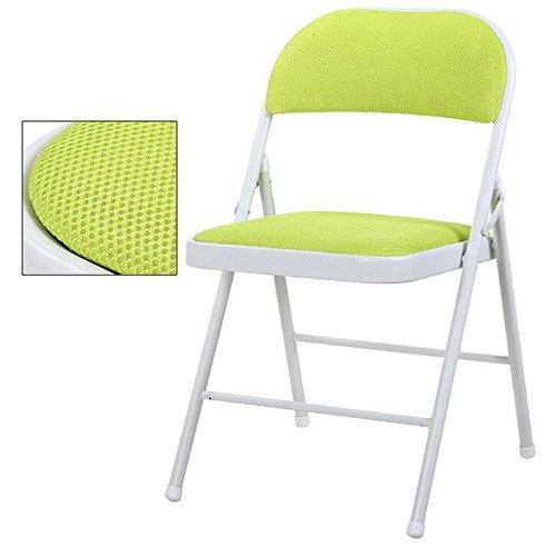 ARAYACY Rückenlehne Metall Klappstuhl Einfache Computer Stuhl Konferenzstuhl Freizeit Bürostuhl...