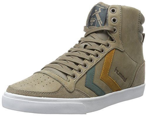 Hummel Slimmer Stadil Duo Oiled High, Sneakers Hautes Mixte Adulte Beige (Fungi)