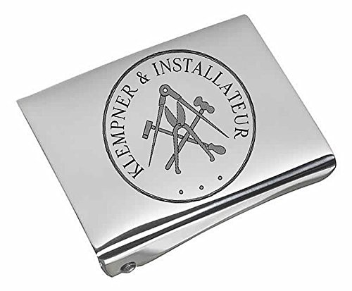 Klempner und Installateure Koppelschloss (geschwärzte Gravur)