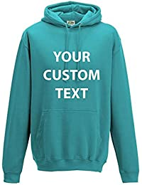 AWD Custom Printed Personalised Just Hoods College Hoodie kids and adults CUSTOM text print Just Hoods College Hoodie in GIFT BOX