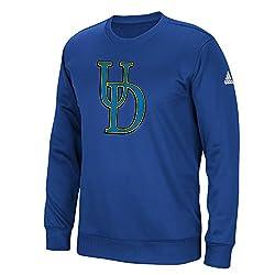 NCAA Delaware Fightin Blue Hens Mens Sideline Post Climawarm Team Issue Crew Sweatshirt, Collegiate Royal, XX-Large