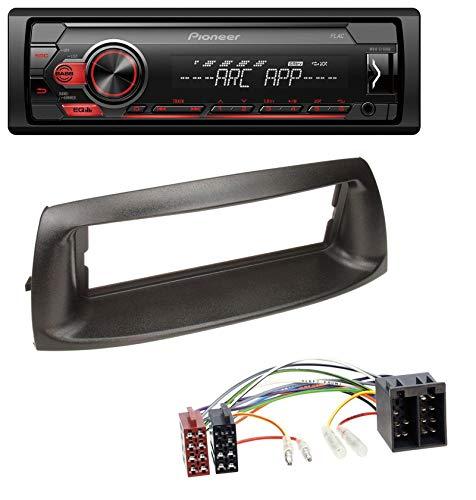 caraudio24 Pioneer MVH-S100UB USB AUX MP3 1DIN Autoradio für FIAT Punto (188, 1999-2005)