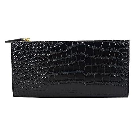 DJ-16002 parfait portefeuille noir avec fermeture métal boucle d