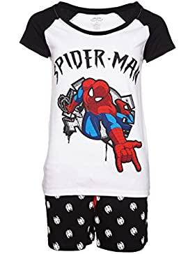 Womens Marvel Comics Spider Man Shortie Pyjamas