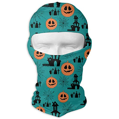 Aeykis Nette Halloween-Kürbis-Spinnen-Muster-Sturmhaube-winddichte Gesichtsmaske Breathable für das Radfahren Skifahren Wintersport