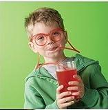 Denshine Flexibel Neuheit lustiges weich Brille Stroh Glas Trinkschlauch Trinken Spass (1er)