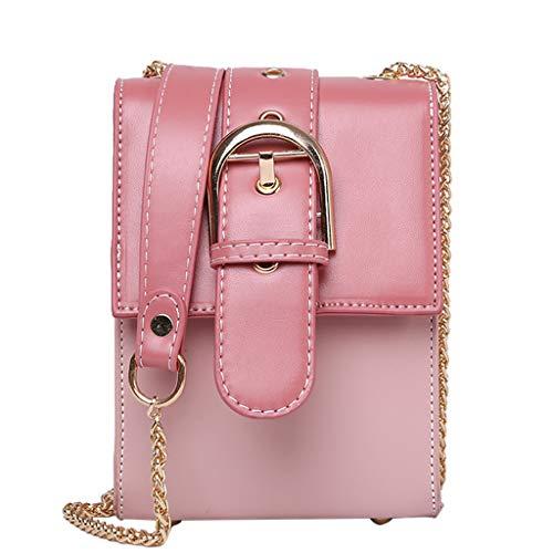 Damen Schultertasche Kleine Umhängetasche Einfache kleine Gesteppte Mit Kettenriemen ☆Elecenty☆ Messenger Bags Clutch Bags Handtaschen Geldbörse -