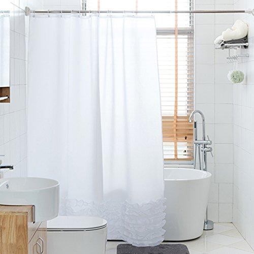 Rideaux de douche Le polyester de rideau en douche imperméabilisent plus la protection douce environnementale de crochet de salle de bains épaisse multiple Caractéristiques respirables Durable ( taille : 220x200CM )