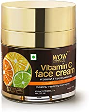 WOW Skin Science Vitamin C Face Cream - Oil Free, Quick Absorbing - For All Skin Types - No Parabens, Silicone
