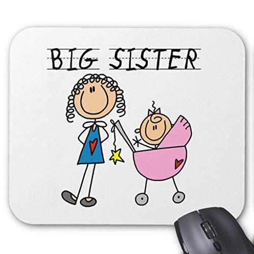 Preisvergleich Produktbild HYYCLS Big Sister with Little Sis Tshirts Mauspads