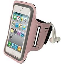 igadgitz Pink Reflektierende Anti-Rutsch Neopren Sports Armband Oberarmtasche Tasche Schutz Hülle Etui Case für Apple iPhone SE, 5S, 5C & 5 4G LTE