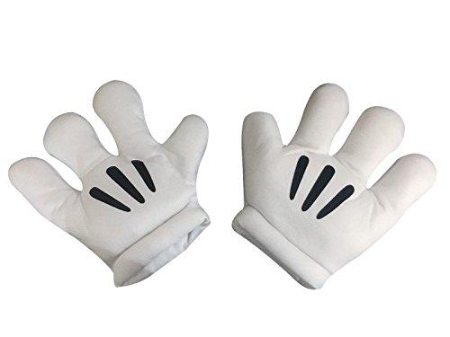 se-Hände Große Gepolsterte Handschuhe Abendkleid (Mickey-händen)