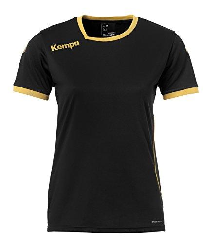 Kempa Curve Damen Trikot, schwarz/Gold, XS