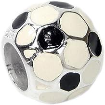 Queenberry in argento Sterling Calcio smalto Charm stile europeo