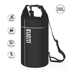 Mochila Impermeable de Viaje – Premium Bolsa Estanca 20~35L Impermeable Seca PVC, 500D (Rafting/Kayak/Senderismo/Esquí/Pesca/Escalada/Camping)