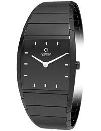 Obaku Harmony - Reloj analógico de cuarzo para mujer con correa de acero inoxidable, color negro