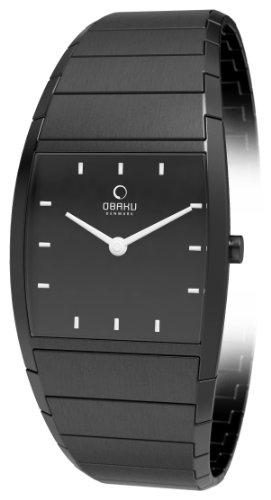 Obaku Harmony - V142LBBSB - Montre Femme - Quartz Analogique - Bracelet Acier Inoxydable Noir