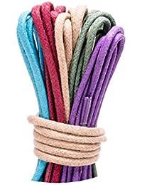 LOCO.Laces de encerados, colores, multicolores, redondas–Zapatos de cordones para Business. 80cm de largo, 2,5mm de diámetro