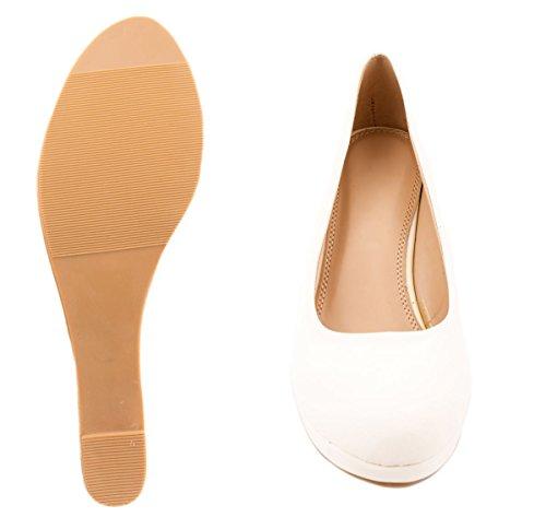Elara - Scarpe con plateau Donna Bianco (bianco)