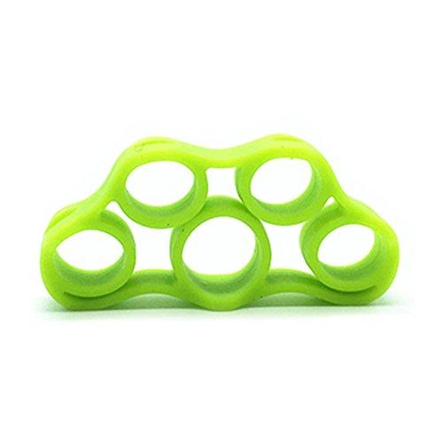 1Stück Hand Stärke Grip Finger Keilrahmen–Stärke Trainer für Golf Grip, Gitarre Finger, Unterarm Übung, Radfahren, Klettern, grün (Grip Trainer Golf)