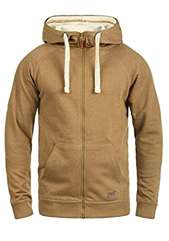 BLEND Speedy Men's Hooded Jacket Zip, size:L;colour:Dark Mustard (75116)