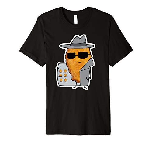 Geheimagent Chicken Nugget T-shirt Geschenk Herren Damen (Chicken Kinder Kostüm)