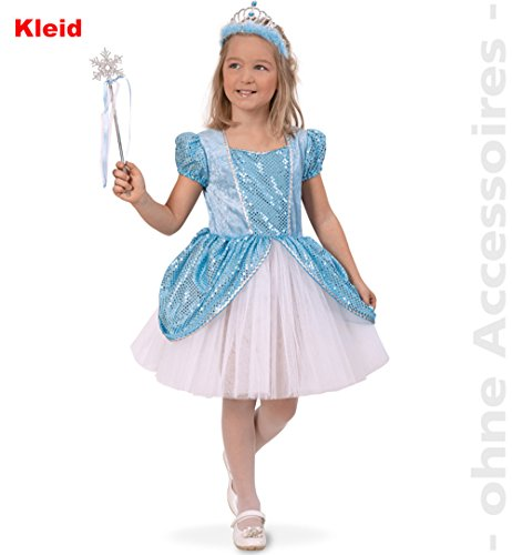 Party-Chic Ice Queen, Kleid Prinzessin, Größe - Blue Ice Queen Kostüm