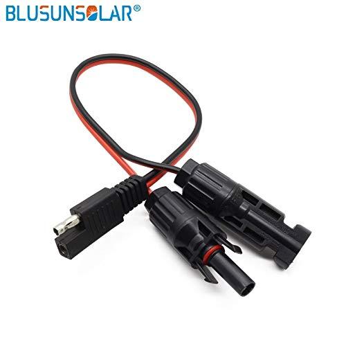 Ochoos 10 Stück SAE-Anschluss 2 Pin Batterie 14 AWG 30,5 cm DC SAE Kabel MC4 Solarpanel Anhänger SAE Stecker Stecker