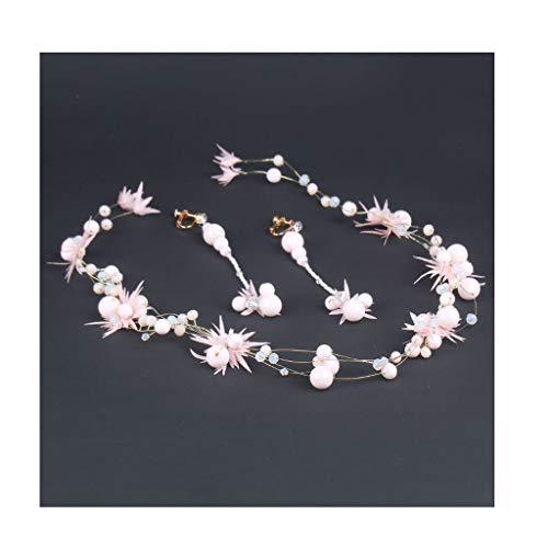 LYM Bandeau Fleur Guirlande Ornement Fleur Fille Accessoires De Cheveux De Vacances Chapeaux Ornement (Couleur : A)