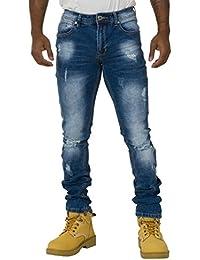 Jeans Homme Slim Fit - détail à l'abrasion Fini stretch pour plus de confort DENZIL