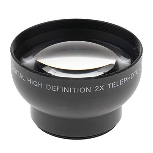 D DOLITY 43mm 2X Teleobjektiv Telekonverter Objektiv für Canon/Nikon/Olympus/Sony/Pentax DSLR-Kameras