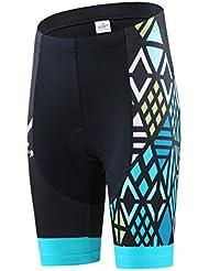 dushow Azul de ropa de ciclismo bicicleta transpirable Jersey Bicyle 3d de secado rápido Cojín Acolchado Shorts Medias Pantalones
