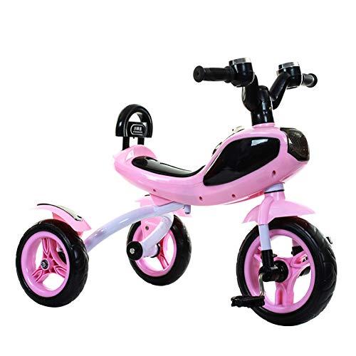 TH Tricicli Trike con Luci E Musica,con Ruota Morbida Silenziosa 3-7 Anni, 74x48x58cm,Pink