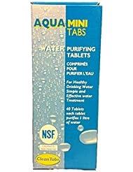 Aqua Clean Mini Tabs 40 Water Purifying Tablets For Boats Caravans Motorhomes