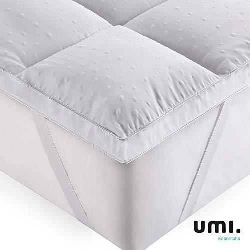 Umi. essentials 3d coprimaterasso imbottito,coprimaterasso in microfibra di poliestere,morbidezza,antiallergico - 180x200cm