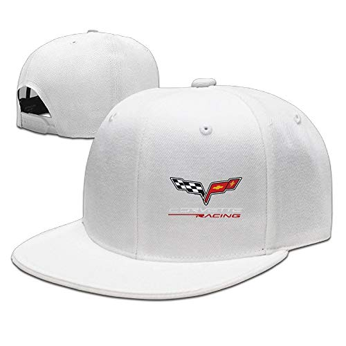ghkfgkfgk Casual Men Women Extreme Sports Motto Corvette Racing Flat Ajustable Snapback Cap Black (Ax-men Hat)