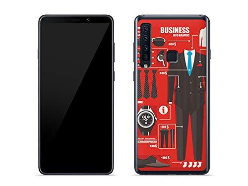etuo Samsung Galaxy A9 (2018) - Hülle Fantastic Case - Business Handy - Handyhülle Schutzhülle Etui Case Cover Tasche für Handy