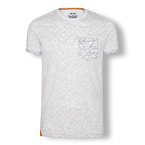 Red Bull KTM Inside-out-Print Camiseta, Blanco Hombre X-Large Top, KTM Factory Racing Original Ropa & Accesorios