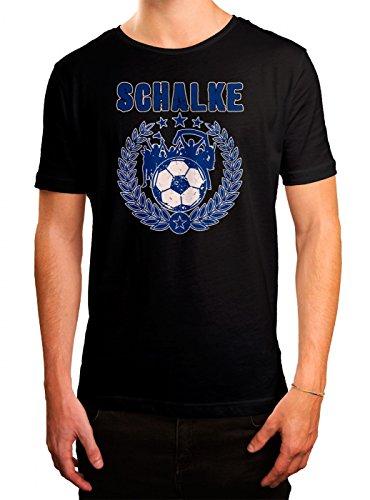 Schalke #3 Premium T-Shirt | Fussball | Fan-Trikot | #Jeden-Verdammten-Samstag | Herren | Shirt, Farbe:Schwarz (Deep Black L190);Größe:5XL (Spieltag Shirt)