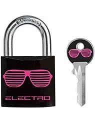 Master Lock Cadenas vestiaire Motif Electro Noir 30 mm