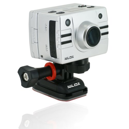 Nilox F-60 Action Cam Full HD 1080p, 60 fps, Argento