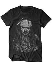 Jack Sparrow tätowiert T-Shirt schwarz