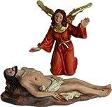 Krippenfiguren Passionsfigur Grablegung 2tlg., geeignet für 9cm Figuren, handbemalen