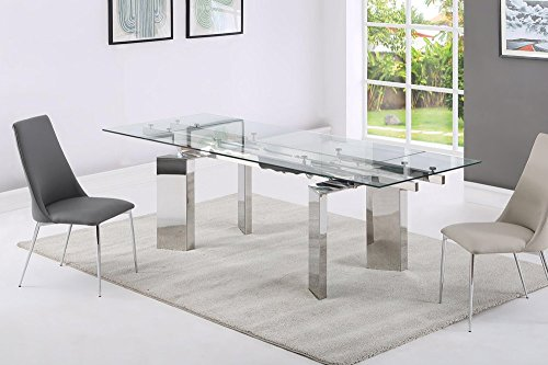 GIOVANNI MARCHESI Table DE Repas Design en Verre Extensible Custom