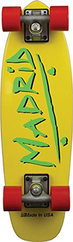 Madrid Skateboards Midget Party Yellow Mini Cruiser -