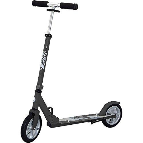 Best Sporting Big Wheel Air 205 Scooter, Tretroller mit großer Trittfläche und Klapp-Ständer, schwarz (3-rad-klapp-roller)