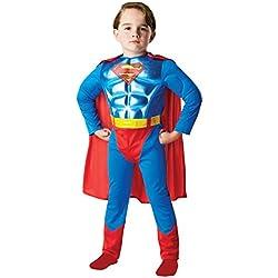 Metallic Chest Superman - Niños Disfraz - Pequeño - 104cm