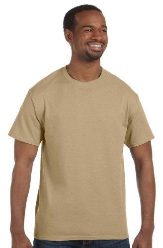 Hanes Tagless T-Shirt XXL, Kiesel, Mehrfarbig, Schwarz (T-shirt Tagless Xxl Hanes)