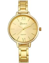 Relojes Pulsera Mujer,Xinan Pequeña Banda de Acero Relojes Cuarzo Analógicos (Oro)